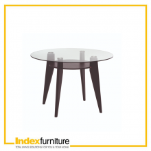 BRIGHTON TOP GLASS DINING TABLE 110 CM.