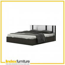 PIANO WOOD BED 5 FEET - BLACK BROWN/WHITE