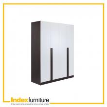 PIANO Wood wardrobe 4 door - BKBN/WT