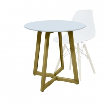 ROUND TABLE OTLT-A14- WHITE