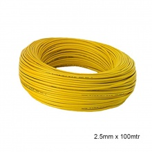 WIRE PVC COATED 2.5MM x 100MTR YELLOW