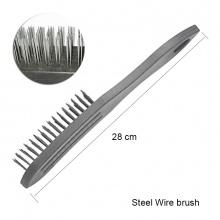 STEEL WIRE BRUSH PLASTIC HANDLE