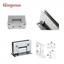 B300B square 90 degree glass door hinge