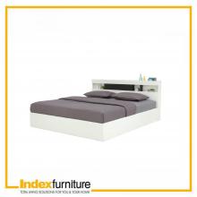 VIOLIN BED 5 FT. - WHITE/BLACK BROWN