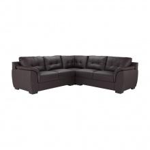 Dovy Pvc Corner Sofa - Dark Brown