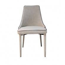 DINING CHAIR DC-0033 FABRIC BEIGE/BROWN