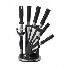 AGOLIA KNIFE SET W/STAND 8PCS/SET BK