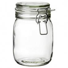 KORKEN JAR WITH LID, CLEAR GLASS 1.8