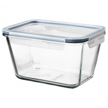 IKEA 365+ FOOD CONTAINER GLASS WITH LID /PLASTIC
