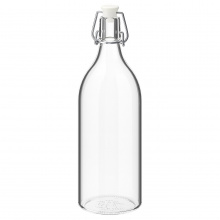 KORKEN BOTTLE WIHT STOPPER, CLEAR GLASS1