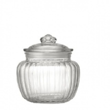 KAPPROCK JAR WITH LID, CLEAR GLASS