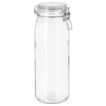 KORKEN JAR WITH LID, CLEAR GLASS 2.1