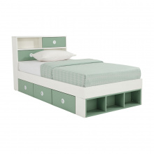 ANISTA BED 3.5 FT. WT/GN
